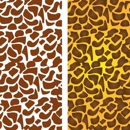 pattern of animal print, giraffe skin texture, vector illustration Vector