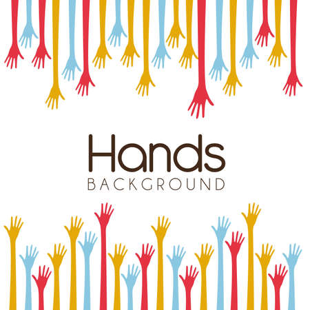 hands of different colors. cultural and ethnic diversity, vector illustration Stock Vector - 14472987