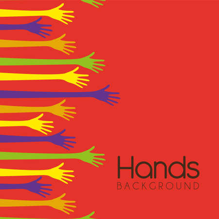 hands of different colors. cultural and ethnic diversity, vector illustration Stock Vector - 14472985