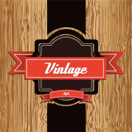 furnier: Weinleseillustration auf Holz Hintergrund, Vektor-Illustration Illustration