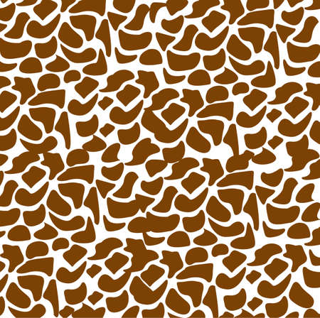 pattern of animal print, giraffe skin texture, vector illustration