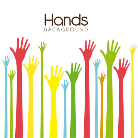 hands of different colors. cultural and ethnic diversity, vector illustration Stock Vector - 14473026