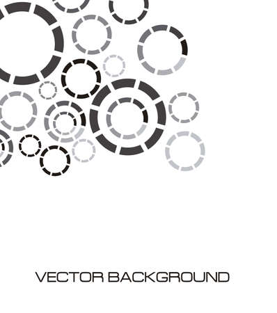 discontinuous: illustration of discontinuous circles isolated on white background, vector illustration