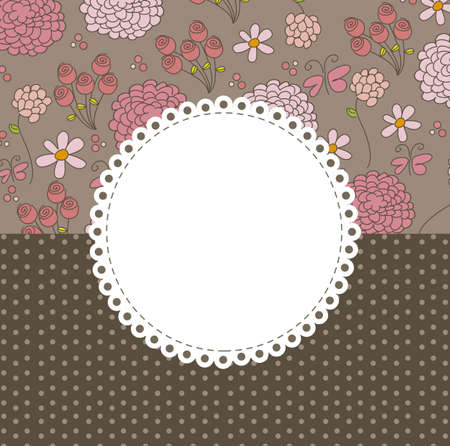 floral background with space for text, vector illustration Vector