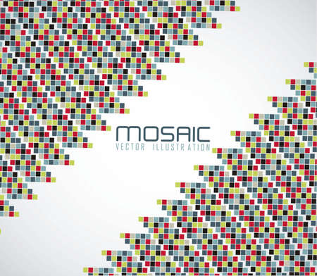 mosaic of color gradient, vector illustration Stock Vector - 14473095
