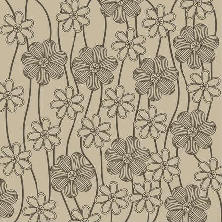 nature wallpaper: floral background, vector illustration