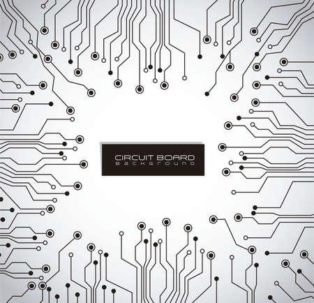 circuito electrico: la placa de circuito, de fondo gris degradado
