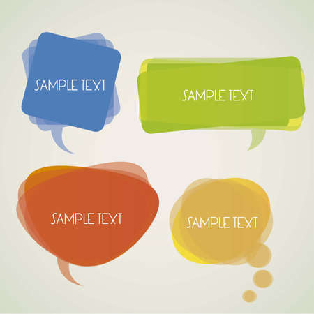 illustration of a transparent speech bubbles on a light background Vector