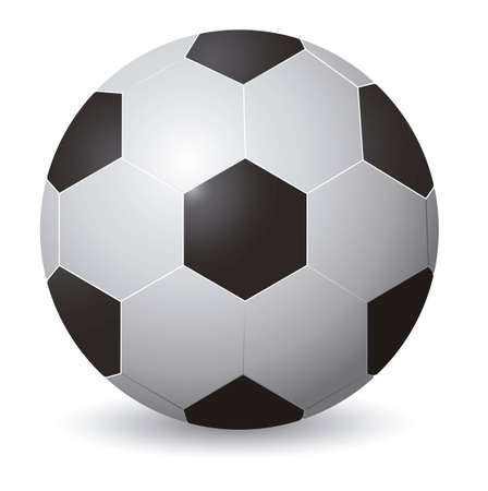 soccerball: illustration of soccer ball on a background of green lines