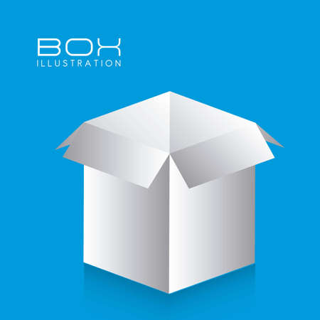 illustration of white box on blue background illustration Stock Vector - 14628018