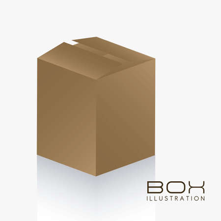 illustration of brown box on white background illustration Stock Vector - 14628022
