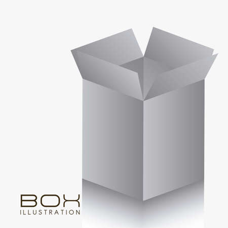 illustration of gray box on white background illustration Stock Vector - 14628020