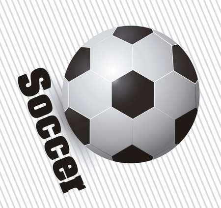 illustration of soccer ball on a background of gray lines Vector