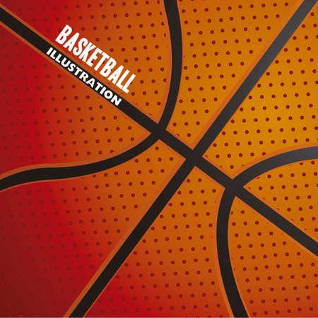 canestro basket: illustrazione di illustrazione modello palla da basket Vettoriali