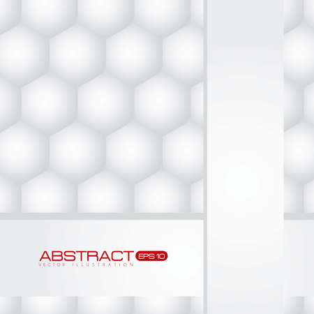 Illustration of abstract background with bright hexagons Vector