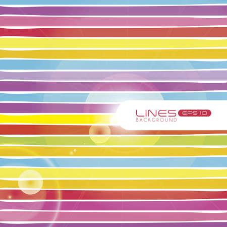 illustration of colored stripes isolated on white background Illustration