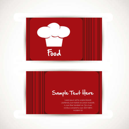 illustration of a business card with chefs hat Vector