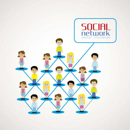 Illustration of people connected, social networking Stock Vector - 14695112