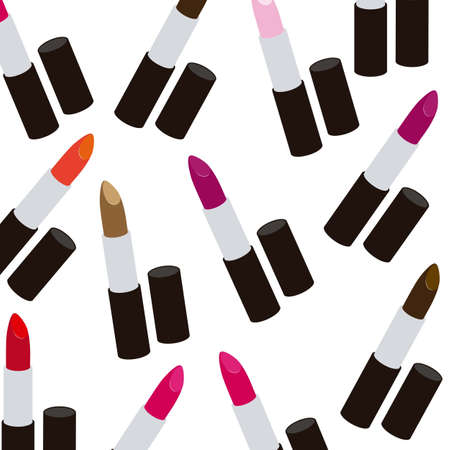 Illustration of lipsticks isolated on white background Vector