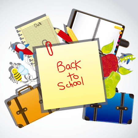 illustration back to school, with school elements Stock Vector - 14786006