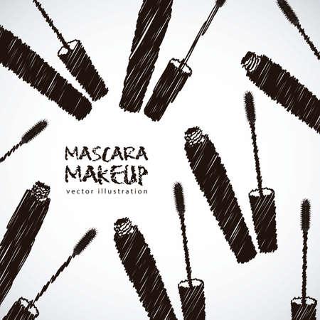 mascara illustration isolated on white background Vector
