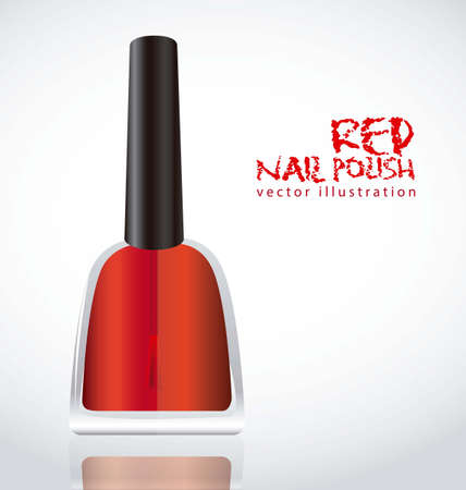Nail polish red, isolated on white background Vector