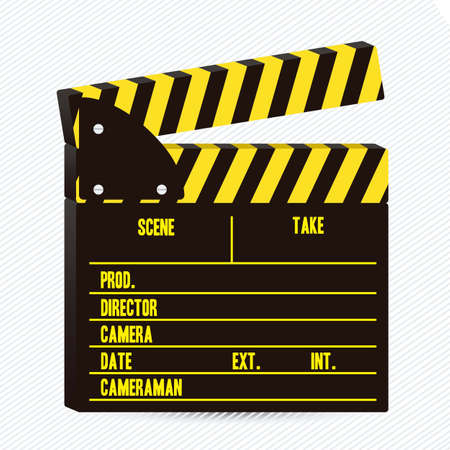 Film Slate illustration isolated on gray background Vector