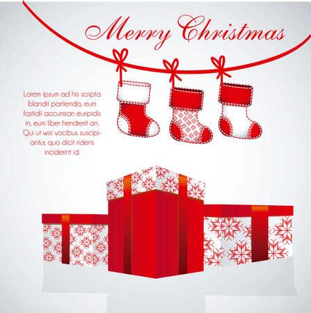 Illustratie van Kerstmis kousen en geschenken