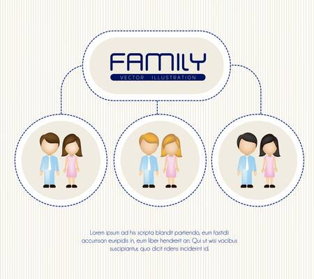Family illustration isolated on white background Vector