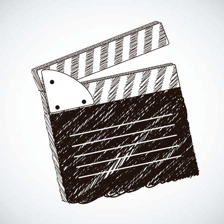 Film Slate illustration isolated on gray background Vector