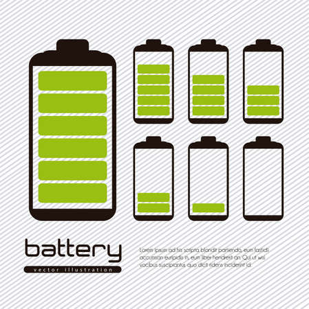 battery: Battery load illustration isolated on white background