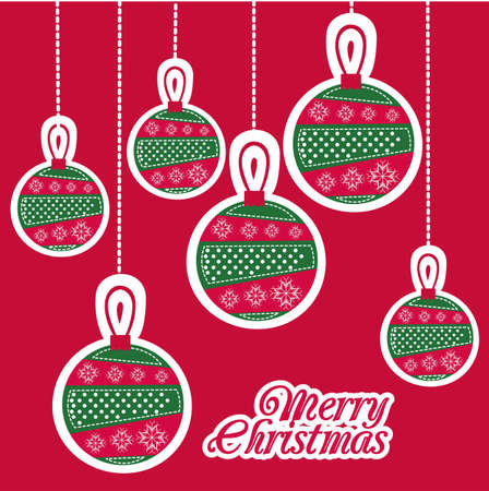 illustration of red Christmas balls Vector