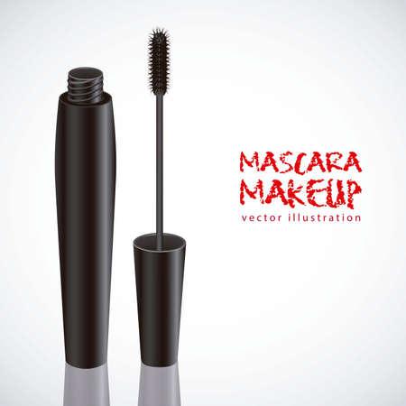 lash: mascara illustration isolated on white background, vector illustration