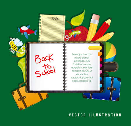 illustration back to school, with school elements Vector