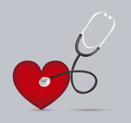 Stethoscope with heart illustration in 3d Stock Vector - 14785299