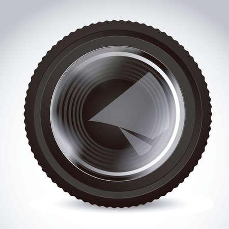 glazed: Illustration of camera lens isolated on white background,  illustration