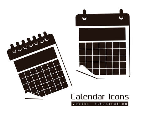 agenda year planner: Calendar icons illustration isolated on white background, illustration Illustration