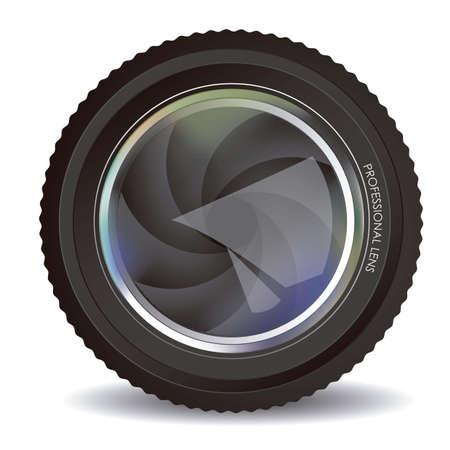 Illustration of camera lens isolated on white background,  illustration Stock Vector - 15191277