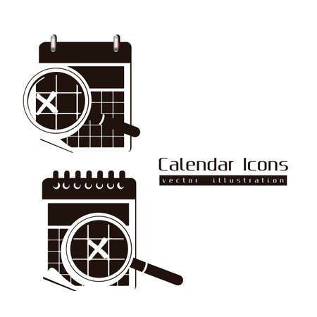Calendar icons illustration isolated on white background,  illustration Stock Vector - 15205623