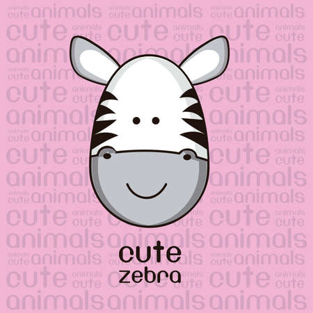 Illustration of a cute zebra Vector