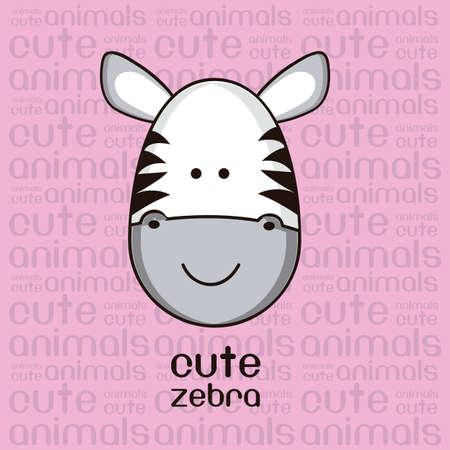 vectore: Illustration of a cute zebra Illustration