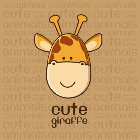 Illustration of a cute giraffe background,illustration Vector