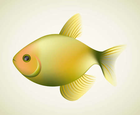 Illustration of fish, isolated on white background, illustration Stock Vector - 15191199