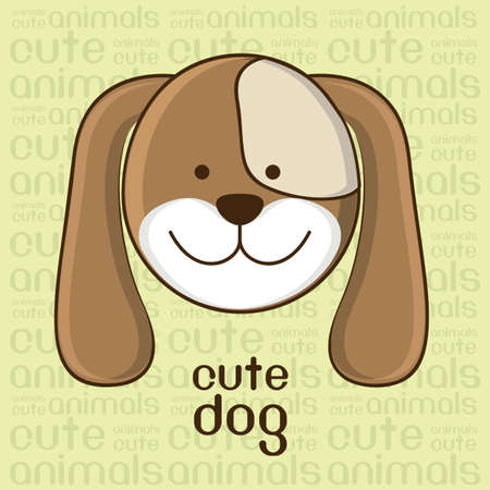 Illustration of a cute dog background,  illustration Stock Vector - 15191160