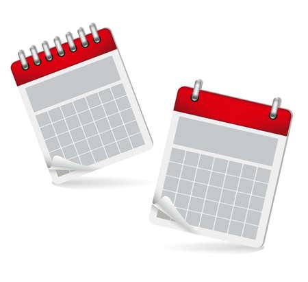 almanac: Calendar icons illustration isolated on white background,  illustration