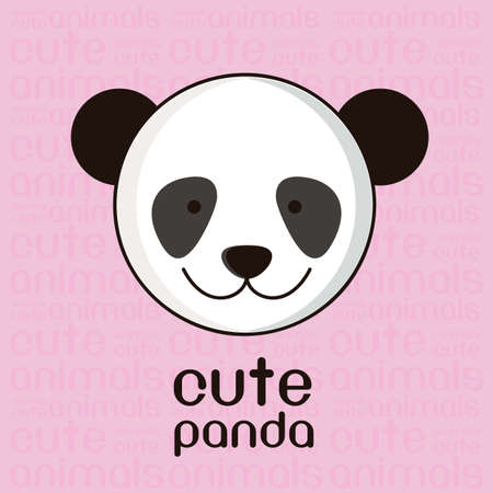 Illustration of a cute panda background,  illustration Vector