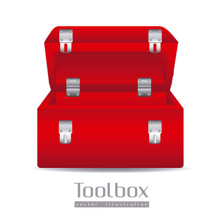 Illustration of a tool box isolated on white background, illustration Vector