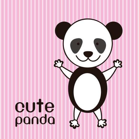 Illustration of a cute panda background,  illustration Illustration