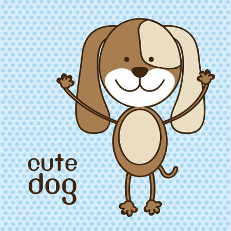 Illustration of a cute dog background,  illustration  Vector
