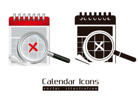 Calendar icons illustration isolated on white background, Stock Vector - 15191070